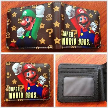 Super Mario party nes switch New Arrive Cute Game of  WORLD Wallets Men Women Purse Boys Girls Money Card Bag Student Prints Leather W542 AT_80_8