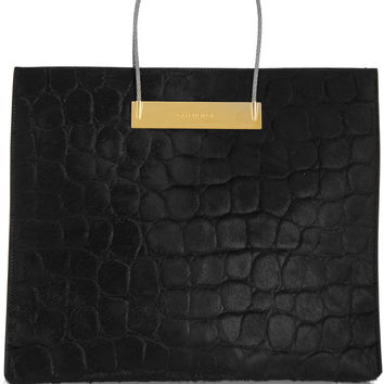 Balenciaga - Cable embossed calf hair tote