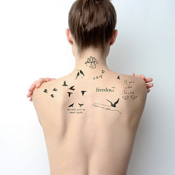 Bird is the Word - Temporary Tattoo Set (Set of 9)
