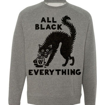 All Black Everything Crewneck