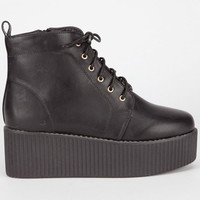Bucco Maude Womens Creepers Black  In Sizes