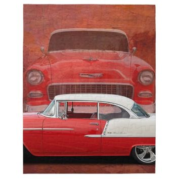 Classic Car Chevy Bel Air Red Vintage Oldtimer Jigsaw Puzzle