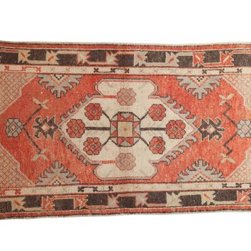 2.5x5.5 Vintage Distressed Oushak Rug Runner