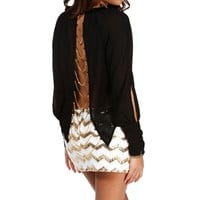 Black Back Chain Blouse