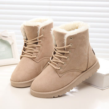 Hot Women Boots Winter Brand Winter Shoes Women Ankle Snow Boots Botas Femininas Plus Size 40 41