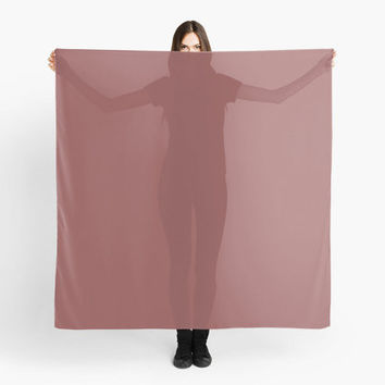 Marsala Scarf Wrap Shawl Solid Color Large Square Scarf 55 Square Inches A Light Chiffon Fabric