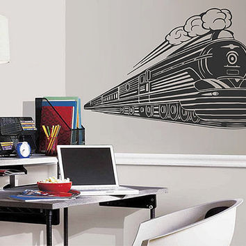 kik2878 Wall Decal Sticker train transport children's bedroom living room