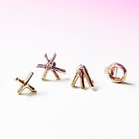Species by the Thousands Womens Palmistry Earring Set - Brass, One