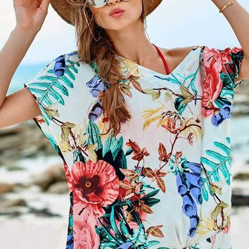 Flowery Twister Cover Up