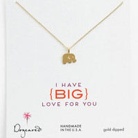 Dogeared 'Big Love for You' Elephant Pendant Necklace | Nordstrom