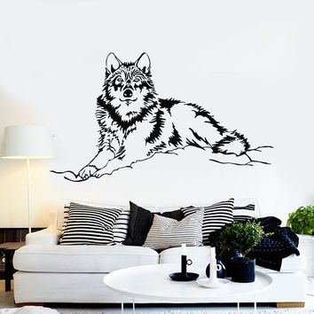 Vinyl Wall Decal Wolf Animal Tribal Art Stickers Mural Unique Gift (ig3892)