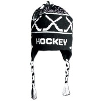 HOCKEY Fleece Lined Knit Winter Hat Black/White