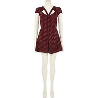 Red polka dot cut out playsuit - playsuits - playsuits / jumpsuits - women