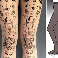 L/XL Lost in Space tattoo tights / stockings / full by tattoosocks