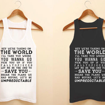 5 second of summer quotes unisex tank top for size S-3XL, color available black and white