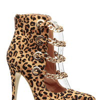 Chains and Whips Leopard Pointy Single Sole Heels