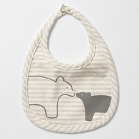 Gap Organic Bear Stripe Bib Size One Size - Oxide grey