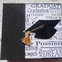 6x6 Chipboard Graduation Scrapbook Photo Album