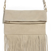 Gallop and Canter Light Beige Suede Leather Purse