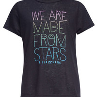 Billabong Girls We Are Stars Tee Black  In Sizes