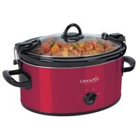 CrockPot 6 Qt. Portable Cook and Carry Slow Cooker in Red Stainless SCCPVL600-R at The Home Depot - Mobile