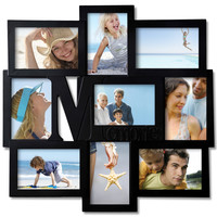 """Decorative Black Wood """"Memories"""" Wall Hanging Collage Picture Photo Frame"""