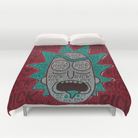 Rick and Morty: Single Print Duvet Cover by Colin Bradley: Artist
