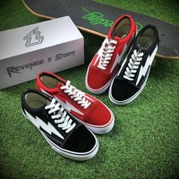 Revenge X Storm Old Skool Red And Black Sneaker Casual Shoes