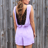 Lavender Lace Playsuit