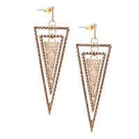 Multi Triangle Swing Earrings