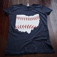 Cleveland baseball Ladies t-shirt Buy Any 3 Shirts Get a 4th FREE