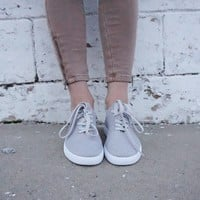 Tess Lace-Up Sneakers - Grey