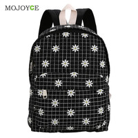Cute Backpack Women School Bags for Teenagers Mochila Feminina Foral Embroider Canvas Backpack Preppy Style Mochila Bagpack