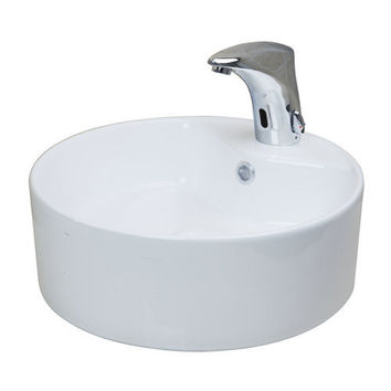Yanksmart 2015 New White Ceramic Washbasin Vessel Lavatory Basin Bathroom Sink TD3030
