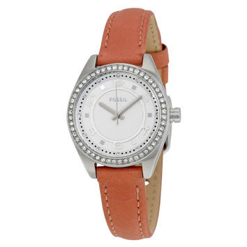 FOSSIL Pink Dusty Rose Leather Ladies Watch BQ1225