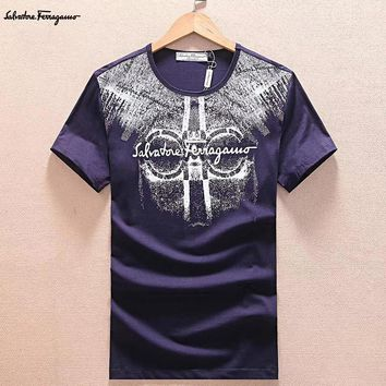 Salvatore Ferragamo Fashion Casual Shirt Top Tee-6