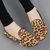 YESSTYLE: Nongli- Leopard Print Slipper Flats - Free International Shipping on orders over $150