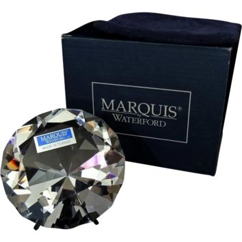 Waterford Crystal Solitaire Paperweight Looks Like a Diamond