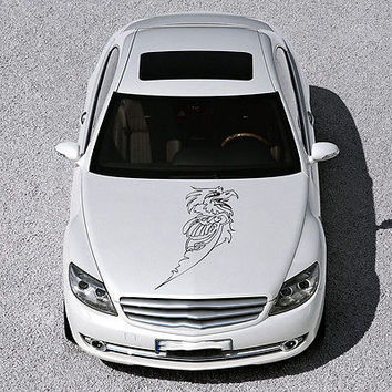 ANIMAL EAGLE BIRD WINGS DESIGN HOOD CAR VINYL STICKER DECALS ART MURALS SV1471