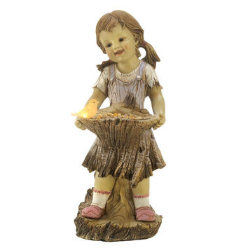 Garden Statues-Solar LED Light-up Country Children So Adorable! 3 Designs