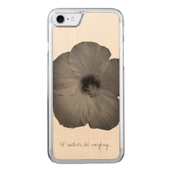 Hawaiian Dreams in Black and White Carved iPhone 7 Case