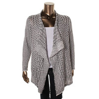 Two by Vince Camuto Womens Plus Cotton Drapey Cardigan Sweater