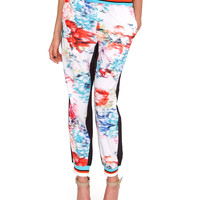 Recreating Jogger Pants - White Floral