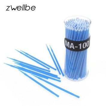 MDIGIJ5 zwellbe 100Pcs/Lot Lint Free Micro Brushes Disposable Swab for Eyelash Extension Micro Mascara Brush for Eyelash Extensions