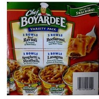 Chef Boyardee Microwavable 8 Bowl Variety Pack