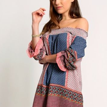 Anyone But You Printed Tunic Dress
