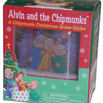 Alvin and the Chipmunks: Chipmunk Christmas Snow Globe Lot 2 Ross Bagdasarian