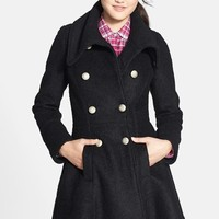 Women's GUESS Double Breasted Boucle Coat