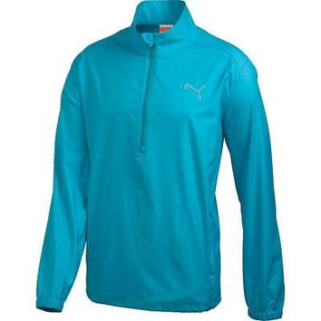 Licensed Golf New Puma Boy's Juniors Half Zip 1/2 Wind Jacket 566530 Cloisonne - Pick Size