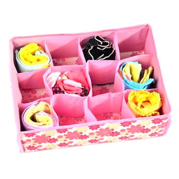 Storage Box for Bras, Underwears and Socks - Blue or Pink
